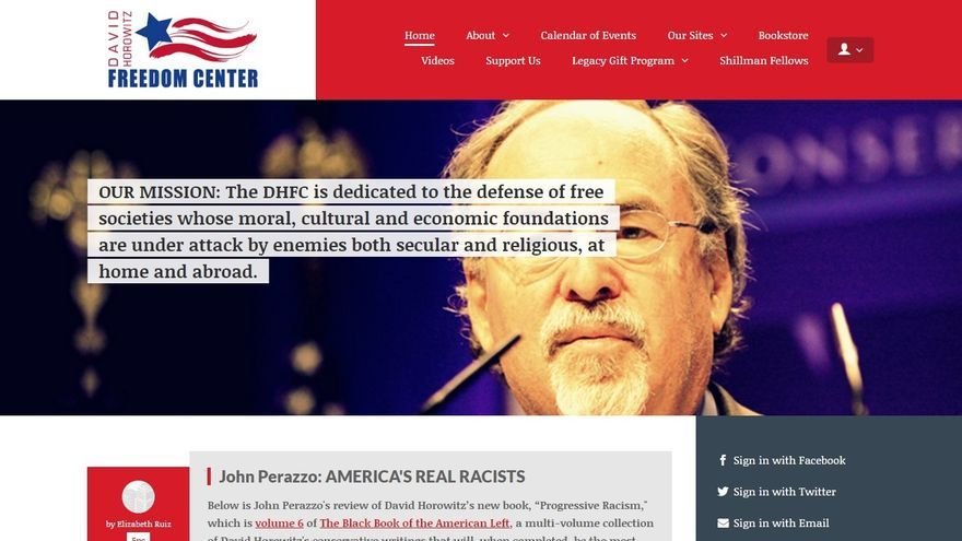 Web del David Horowitz Freedom Center.