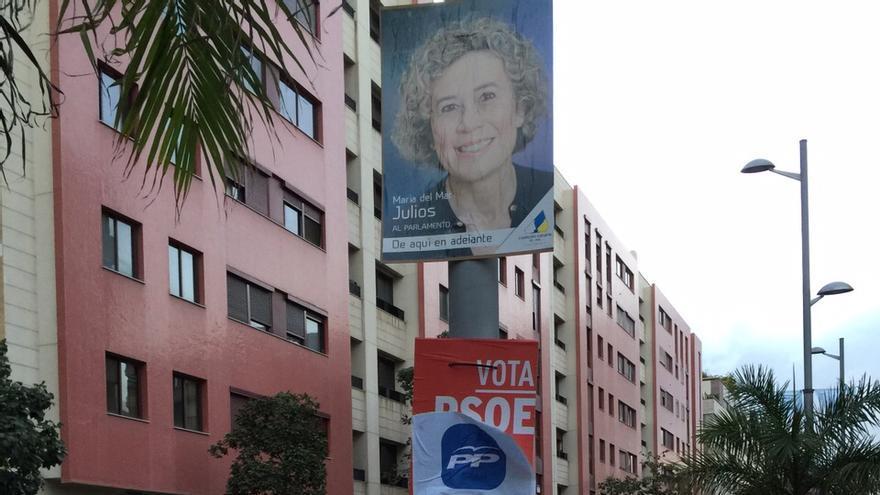 Cartel del PP sobre el de Nueva Canarias.