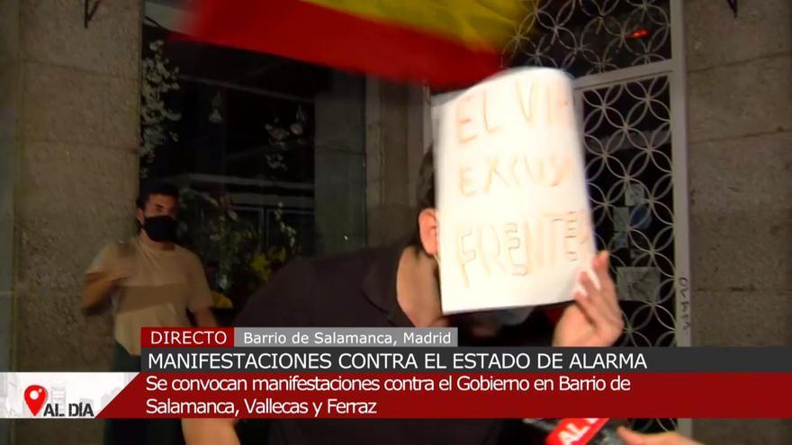 """""""¡Viva Hitler!"""": un exaltado del barrio de Salamanca hace apología nazi en 'Cuatro al día'"""