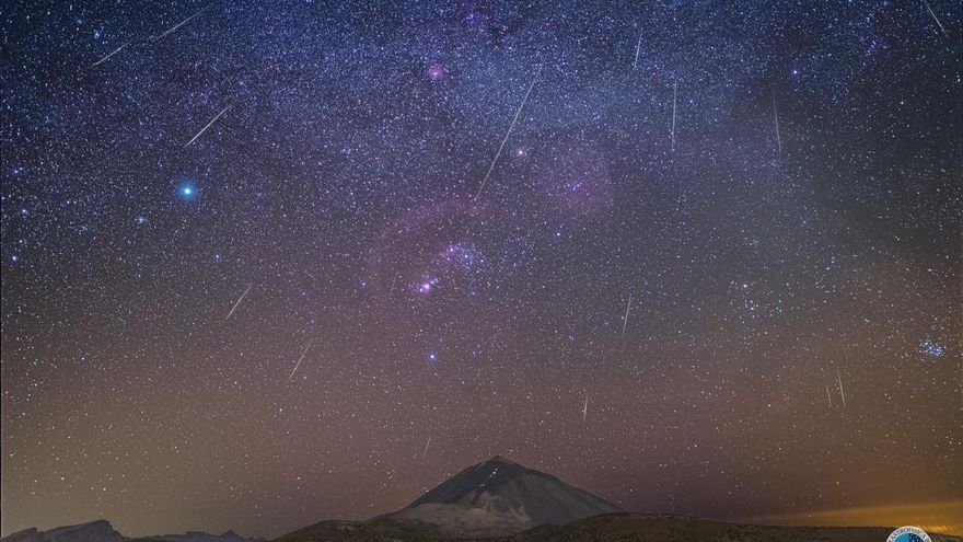 Lluvia de las Gemínidas desde el Observatorio del Teide.