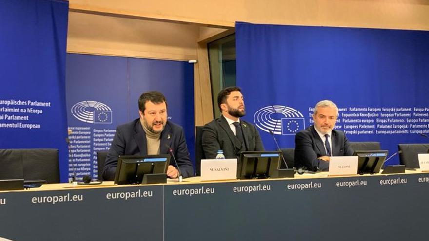 El líder de la Lega, Matteo Salvini, en el Parlamento Europeo, en Bruselas, el 3 de diciembre de 2019.
