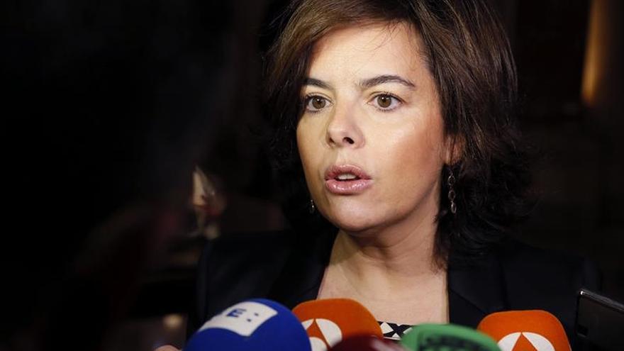 S.Santamaría: Puigdemont sabe que no habrá referéndum y debe reflexionar
