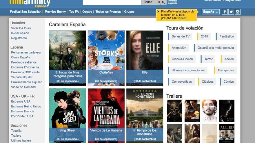 web de Filmaffinity