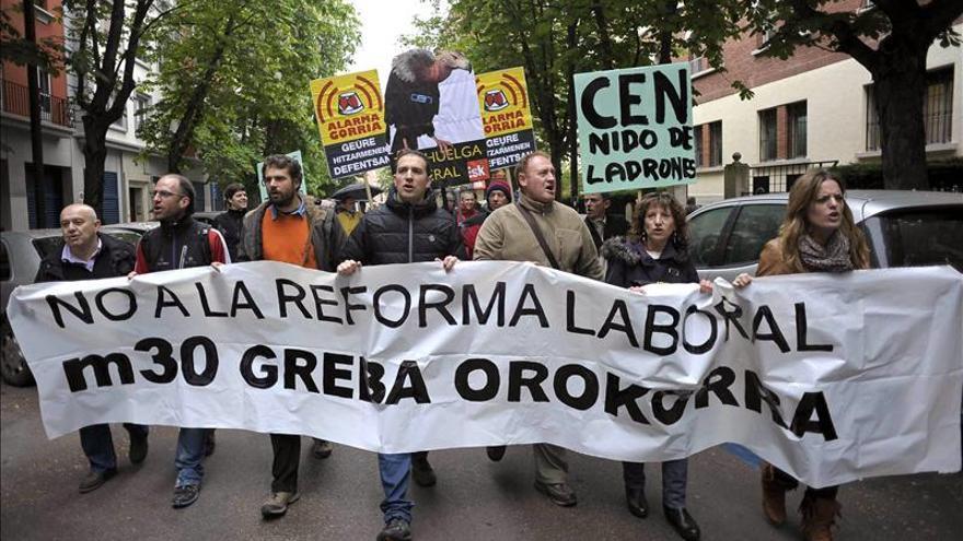 Cuatro detenidos en Navarra por desordenes públicos en la jornada de huelga