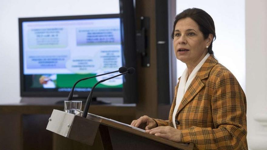 La consejera, durante la presentación de las cuentas / GobEx