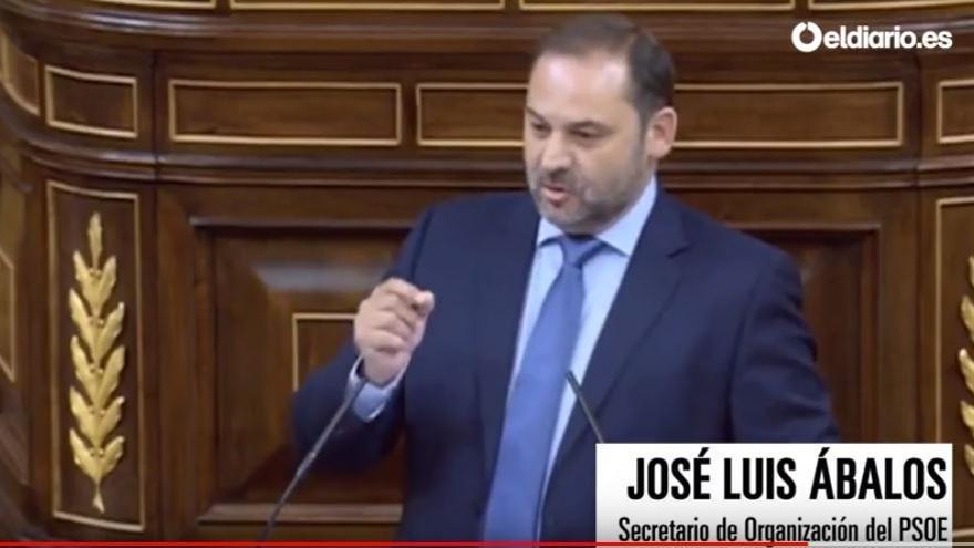 José Luis Ábalos, cuando le ha recordado a Montoro su frase de 2010