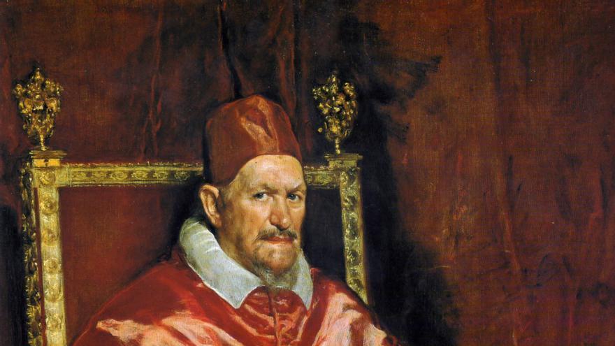 Retrato del Papa Inocencio X, en Roma, por Diego Velázquez
