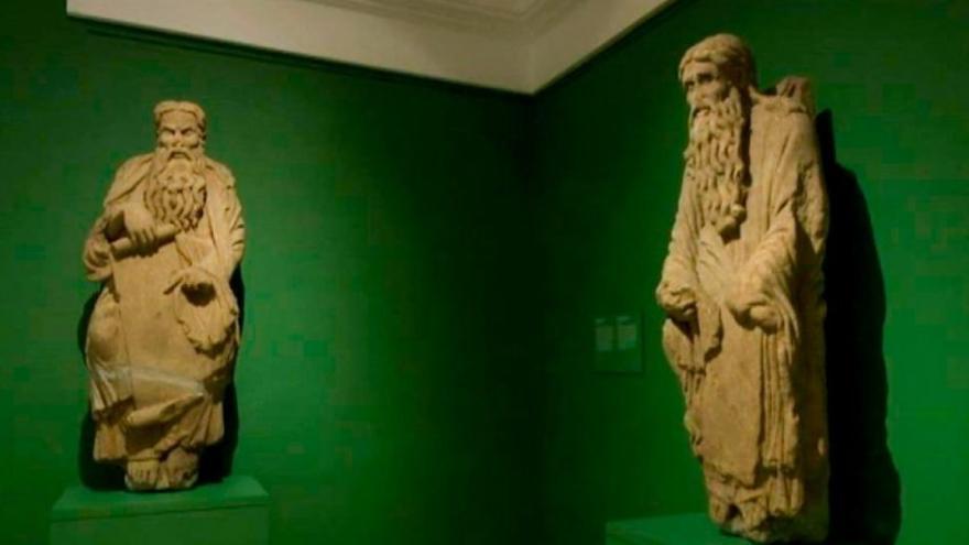 Las esculturas de Abraham e Isaac realizadas por el Maestro Mateo