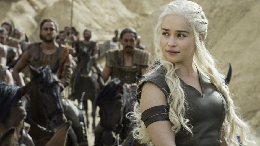 Emilia Clarke como Khaleesi en 'Juego de Tronos'