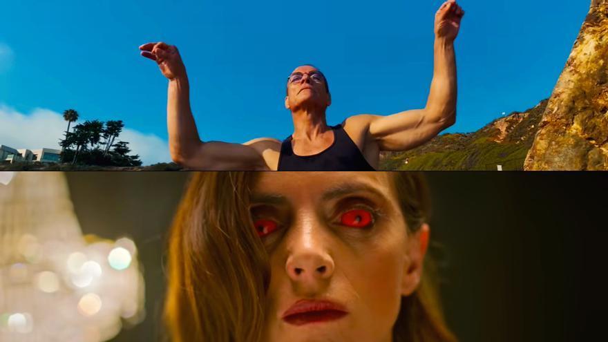 Fotogramas de los videoclips de AaRON y Taburete