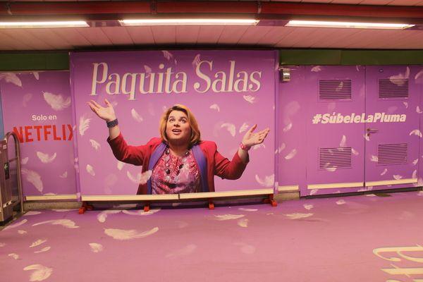 """Estación de Metro de Chueca con la campaña publicitaria de la serie """"Paquita Salas"""" por el Orgullo 2018   Somos Chueca"""