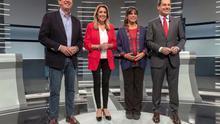 Los cuatro candidatos a la presidencia de la Junta de Andalucía.