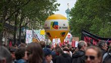 Manifestación contra la reforma laboral en Francia.