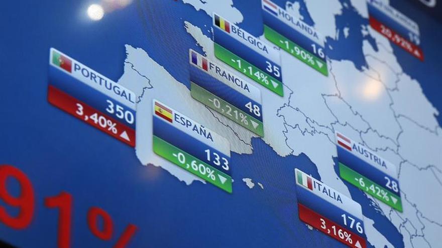 La prima de riesgo cae a 111 puntos en la apertura y el bono, al 1,465 por ciento