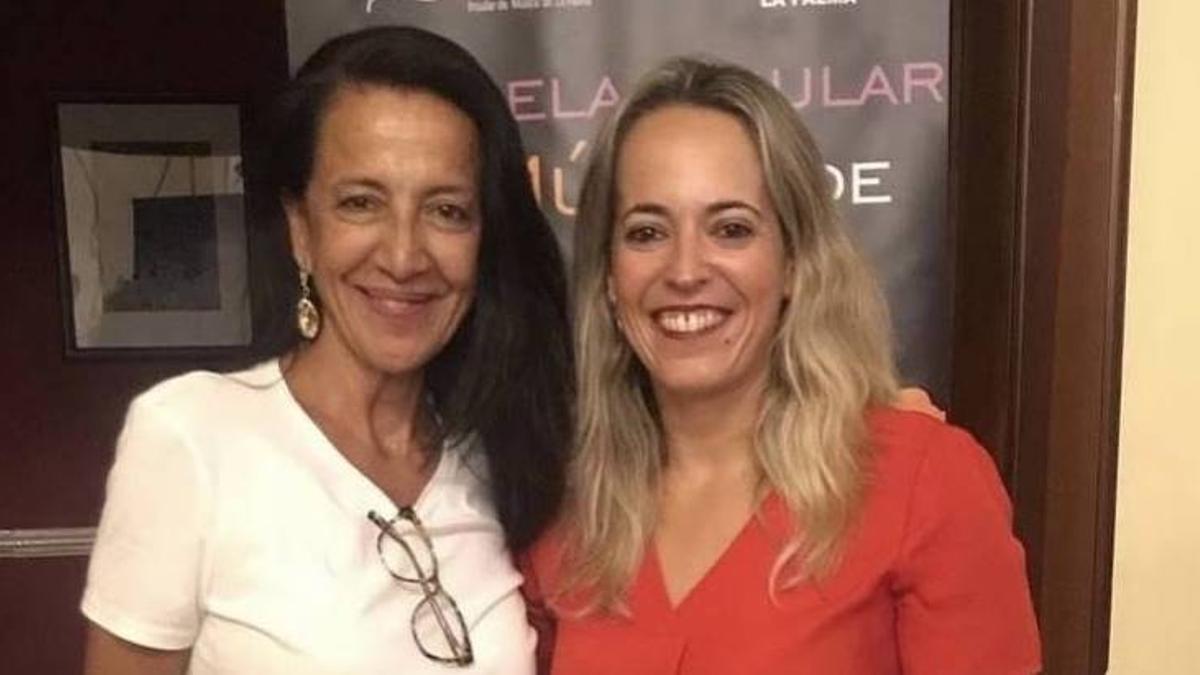 Mila Martín y Susana Machín.