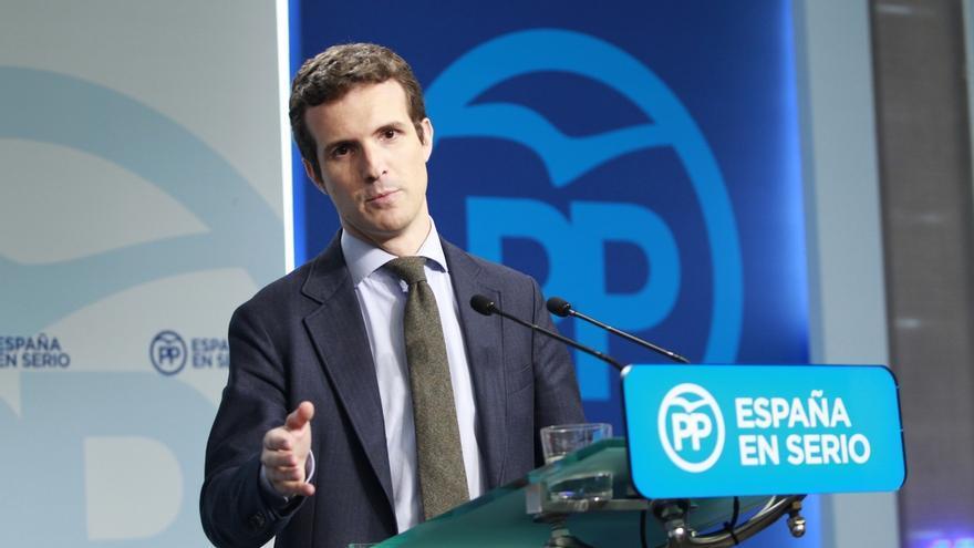 """Pablo Casado (PP) dice que """"seguro"""" que se alcanzará un acuerdo con C's, pero ve """"importante"""" que también esté el PSOE"""
