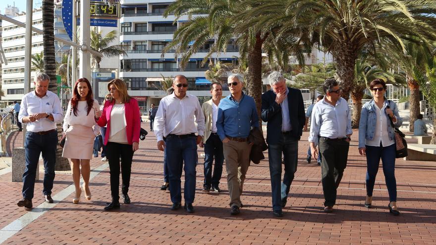 La secretaria general de los socialistas andaluces, Susana Díaz en Las Palmas de Gran Canaria (Alejandro Ramos)