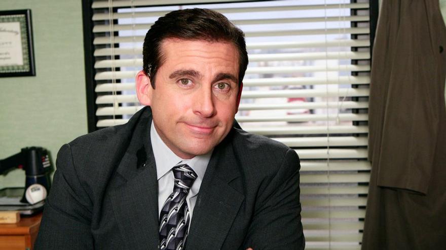 Michael Scott (Steve Carell), en The Office