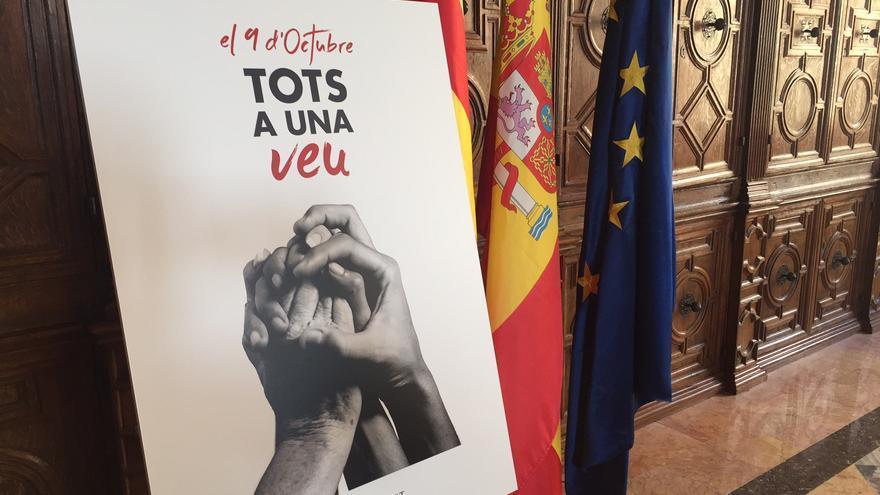 Cartel de la Generalitat para el 9 d' Octubre de 2016.