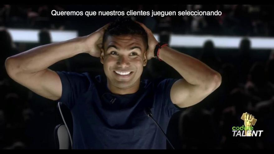 El centrocampista del Real Madrid, Carlos Henrique Casemiro, en una promoción de Codere