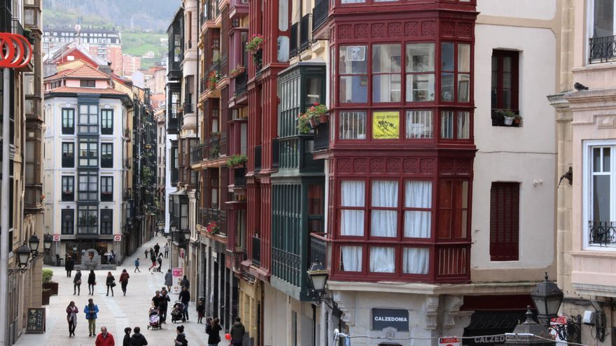 Vistas del Casco Viejo de Bilbao.