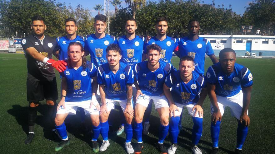 Formación del CD Marino este pasado domingo ante Las Palmas C.