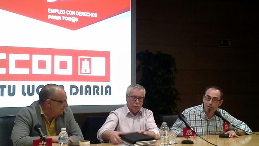 Toxo en una asamblea sindical en Albacete