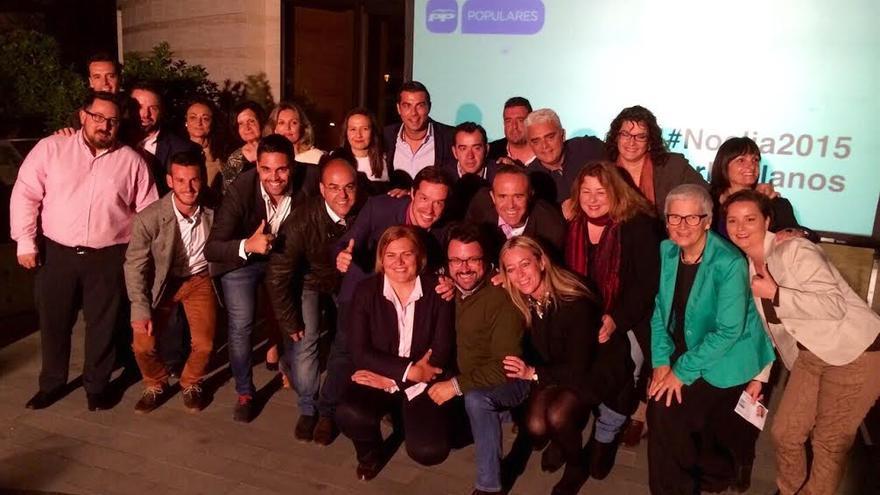 En la imagen, los miembros de la lista del PP al  Ayuntamiento de Los Llanos de Aridane.