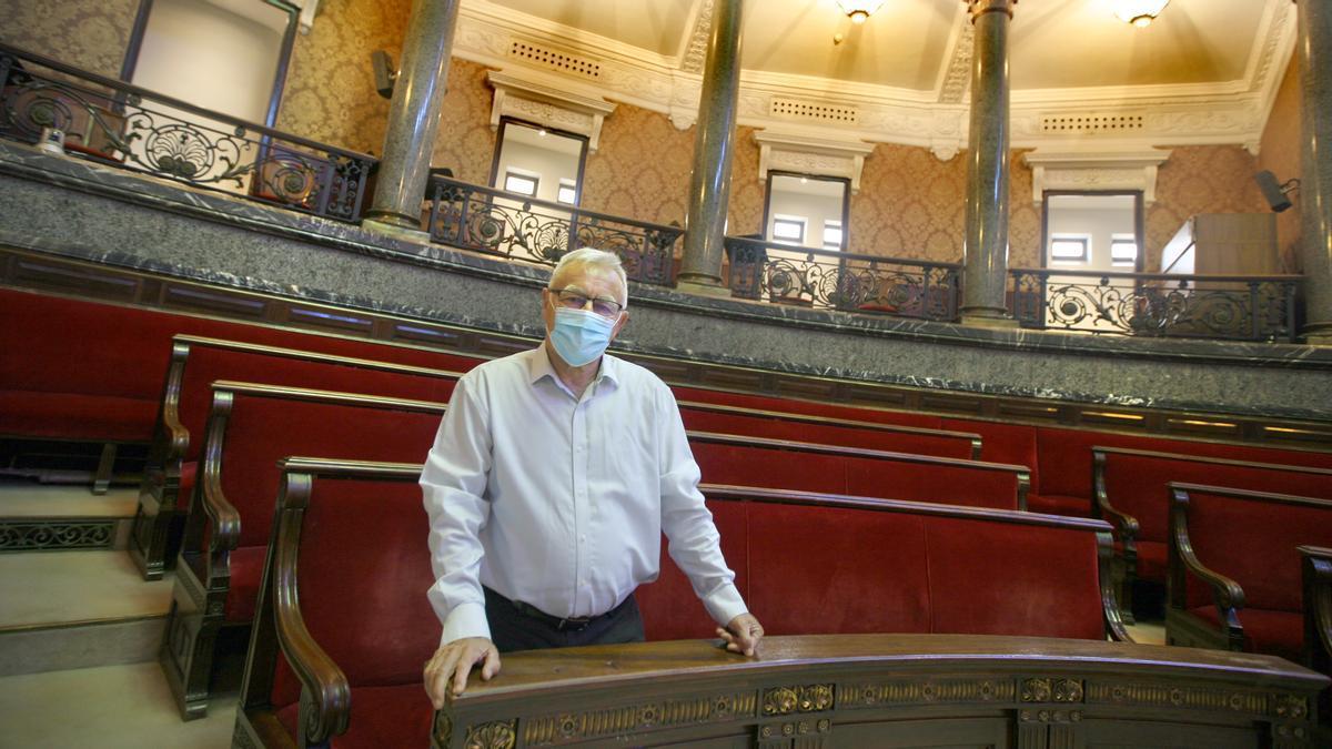El alcalde València, Joan Ribó, en el hemiciclo.
