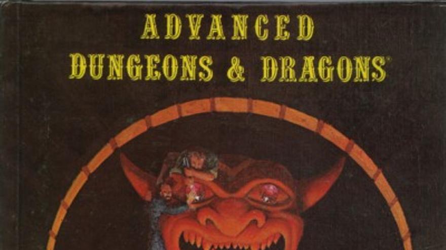 El primer manual de D&D, portada de David A. Trampier