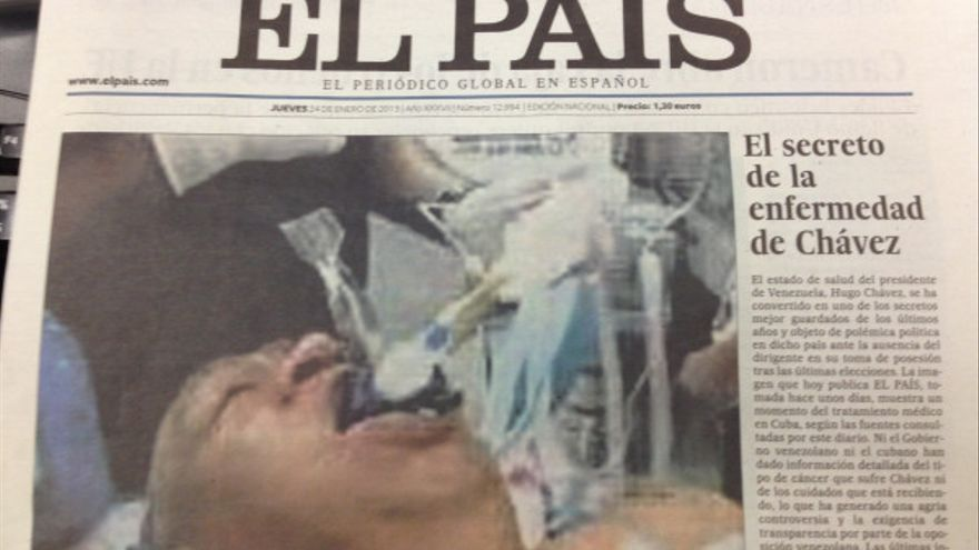 Portada de El País con la foto falsa.