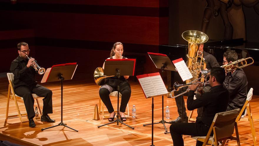 Vulcano Brass Quintet, en una actuación
