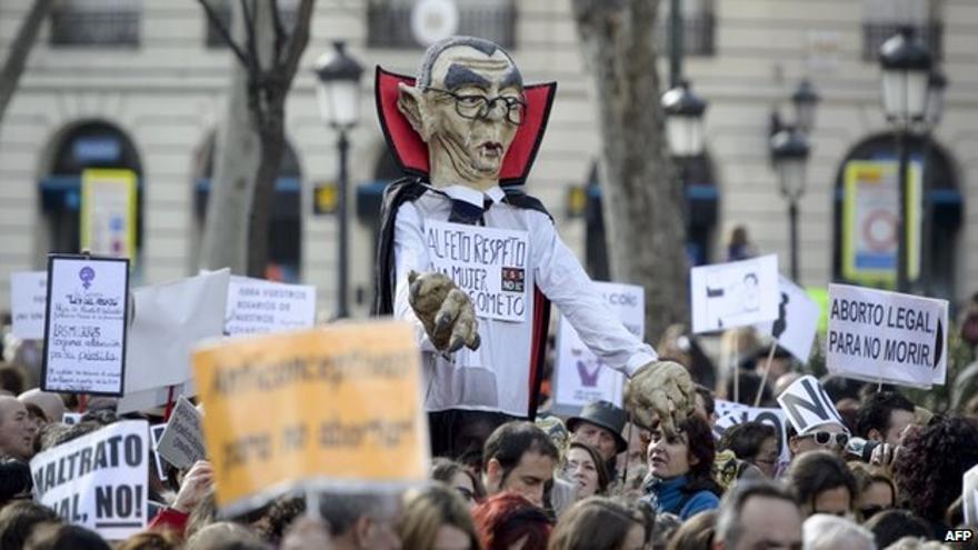 Manifestación a favor del aborto libre y contra la reforma del PP.