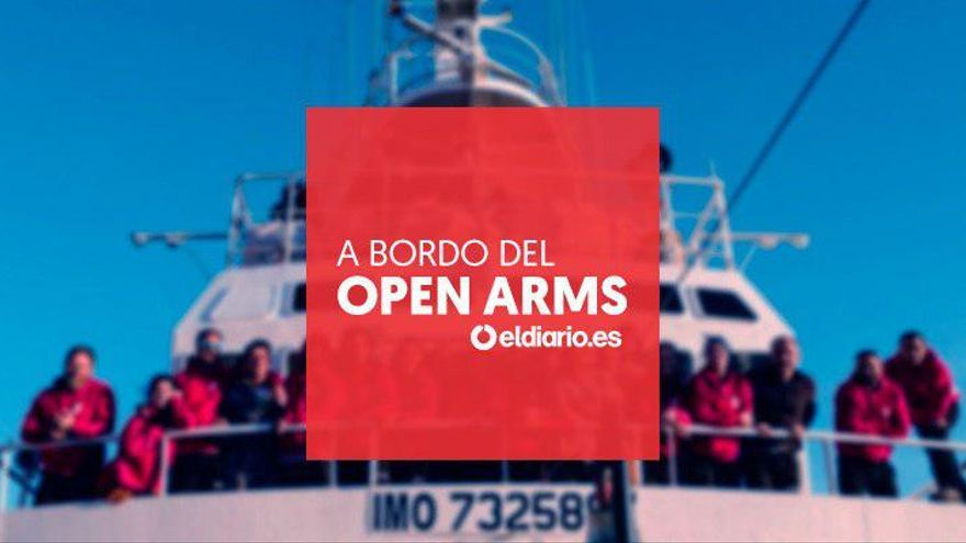 A bordo del Open Arms