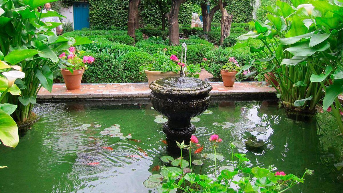 Un patio del Palacio de Viana.