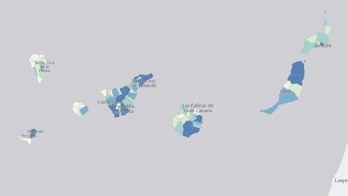 Casos positivos por isla