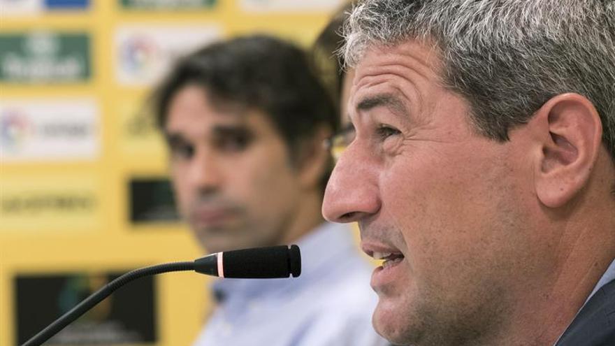 El nuevo entrenador de la Unión Deportiva Las Palmas, Manolo Márquez. EFE/Ángel Medina G.
