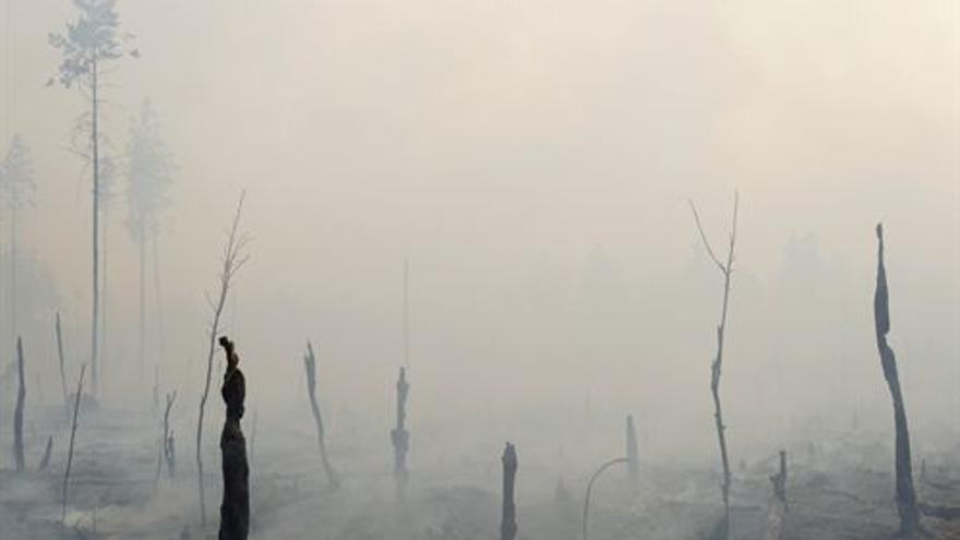 Incendio en Rusia. (DENIS SINYAKOV / REUTERS)