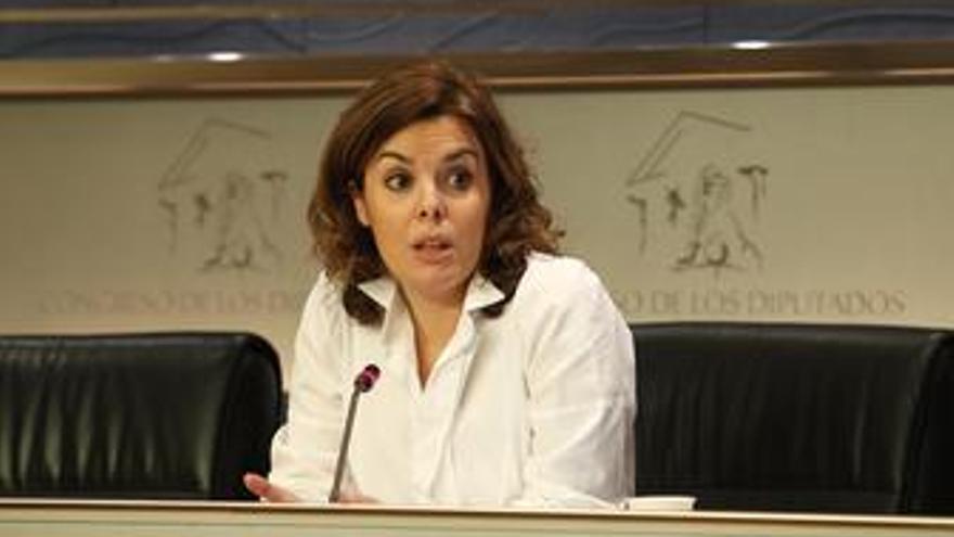 Portavoz parlamentaria del PP en el Congreso, Soraya Sáenz de Santamaría