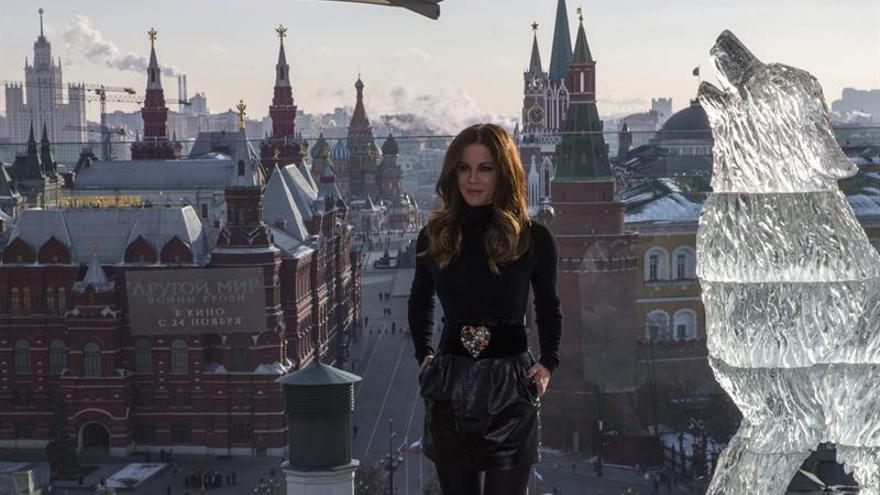 """Kate Beckinsale promociona en Rusia la quinta entrega de la saga """"Underworld"""""""