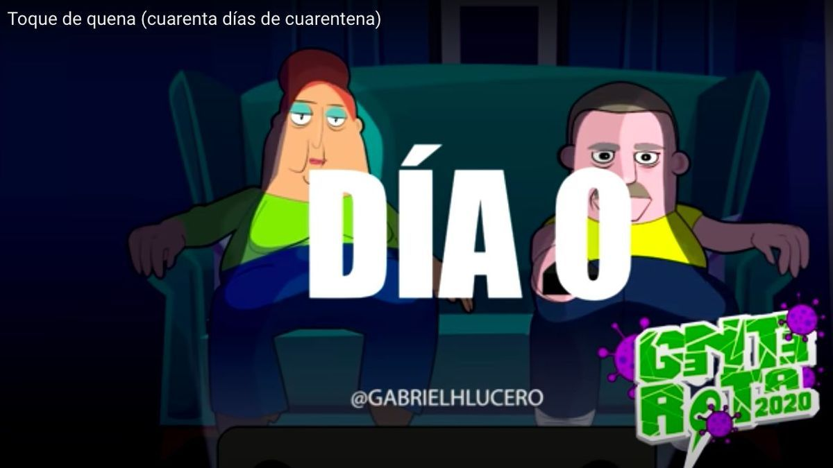 """""""Toque de quena"""", los videos de Gabriel Lucero con audios que contaron el día del ASPO."""