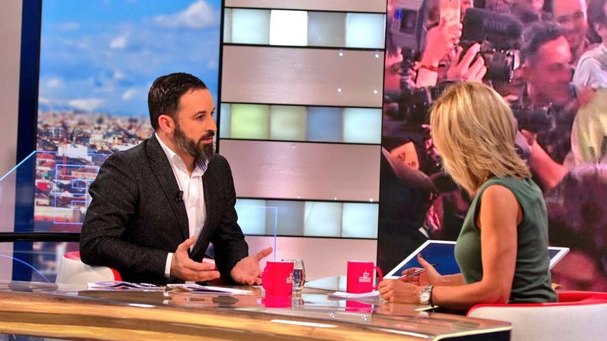 Santiago Abascal en 'Espejo Público'