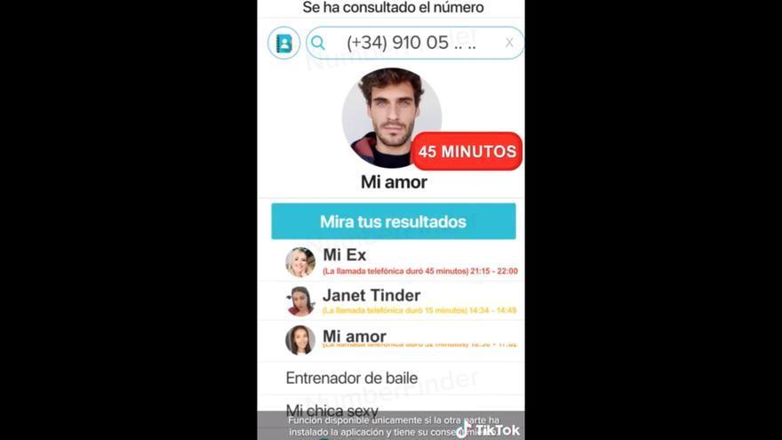 Captura de pantalla del anuncio de Number Finder en TikTok