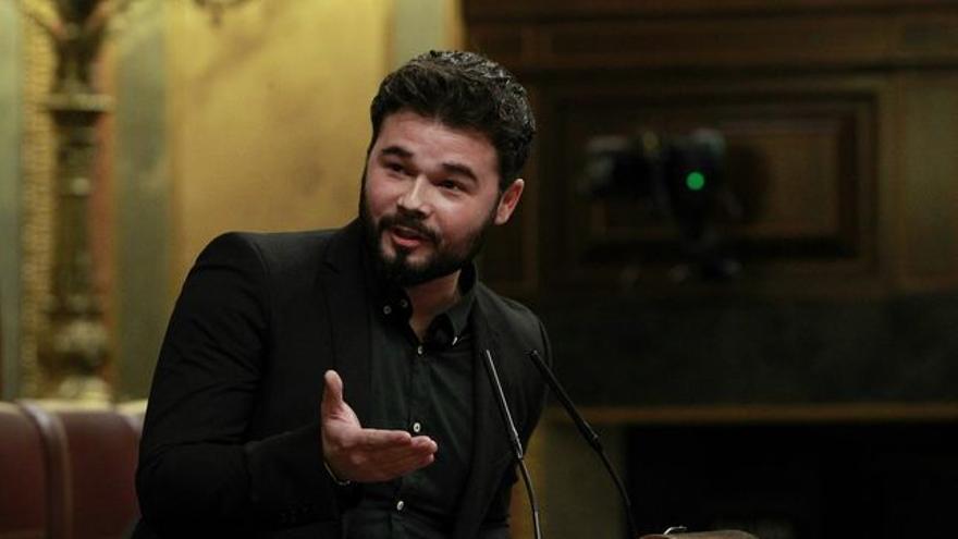 Gabriel Rufián, joven diputado en el Congreso de ERC