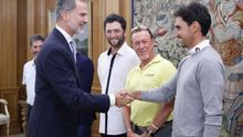 Rafa Cabrera, ilusionado ante el Open de España, visita la Zarzuela