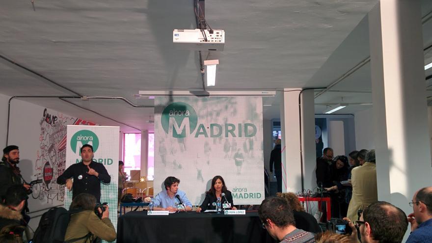Presentación de Ahora Madrid. / Aitor Riveiro