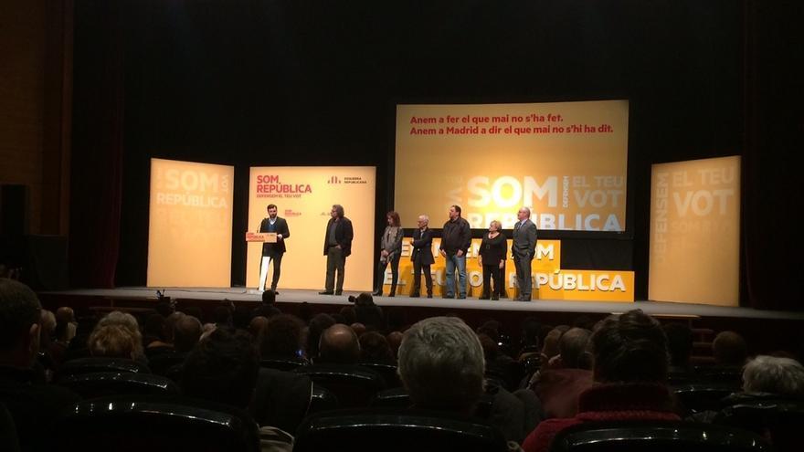 Rufián (ERC) pide el voto para plantar cara a los que niegan del resultado del 27S