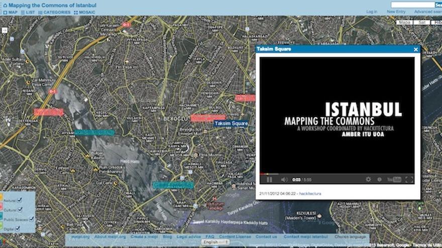 Cartografía del proyecto 'Mapping the Commons Istambul', ideado por Hackitectura.