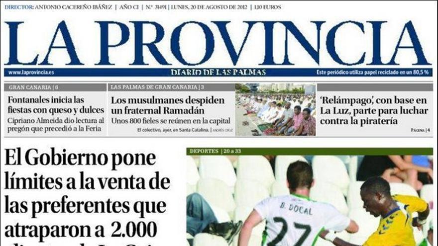 De las portadas del día (20/08/2012) #1
