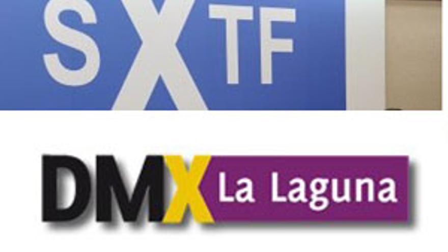 Los logos de Socialistas por Tenerife (SxTF) y la Agrupación x La Laguna.